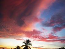 Cielo y nubes en Tailandia Foto de archivo libre de regalías