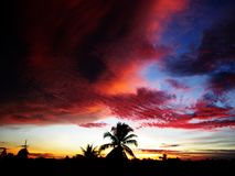 Cielo y nubes en Tailandia Imagen de archivo