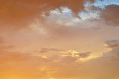 Cielo y nubes para el fondo Fotografía de archivo