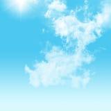 Cielo y nublado Foto de archivo