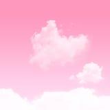 Cielo y nublado rosados Fotos de archivo