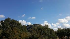 Cielo y paisaje de las rocas, paisaje mediterráneo de la naturaleza, parque nacional de Carmel Fotos de archivo