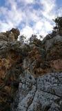 Cielo y paisaje de las rocas, paisaje mediterráneo de la naturaleza, parque nacional de Carmel Fotos de archivo libres de regalías