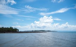 Cielo y playa de Koh Mak foto de archivo libre de regalías