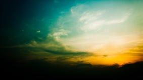 Cielo y puesta del sol de la nube de Grunge Foto de archivo