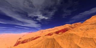 Cielo y rocas ilustración del vector