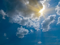 Cielo y sol Fotografía de archivo libre de regalías