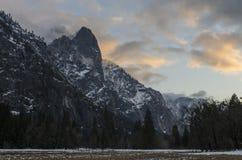 Cielo Yosemite di inverno del punto di Moran Fotografia Stock Libera da Diritti