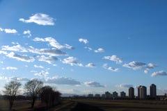 Cielo a Zagabria immagine stock libera da diritti