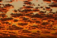 Cielos ardientes 2 Foto de archivo libre de regalías