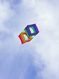 Cielos azules de la cometa de rectángulo Fotografía de archivo libre de regalías