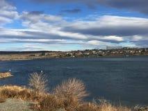 Cielos azules sobre el puerto de Benton Fotografía de archivo