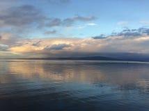 Cielos con playas coloridos foto de archivo libre de regalías