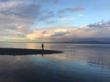 Cielos con playas coloridos Foto de archivo
