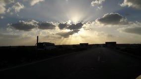 Cielos de la costa del norte de Egipto Fotos de archivo libres de regalías