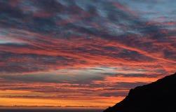 Cielos de la puesta del sol foto de archivo libre de regalías