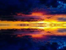 Cielos de la puesta del sol Imagen de archivo libre de regalías