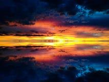 Cielos de la puesta del sol Fotografía de archivo libre de regalías