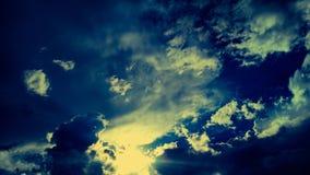 Cielos de la puesta del sol Imágenes de archivo libres de regalías