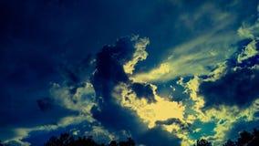 Cielos de la puesta del sol Imagen de archivo