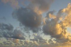 Cielos de la tarde Imagenes de archivo
