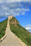 Cielos dramáticos en la Gran Muralla de Simatai de China Foto de archivo