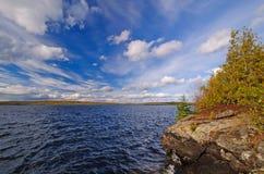 Cielos espectaculares en el lago wilderness Fotografía de archivo libre de regalías