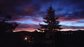 Cielos hermosos en Prescott Arizona en verano Imagenes de archivo