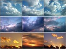 Cielos nublados Imagenes de archivo