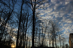 Cielos nublados Fotos de archivo libres de regalías