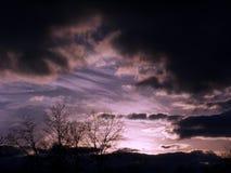 Cielos oscuros Foto de archivo libre de regalías