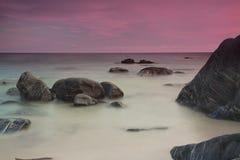 Cielos púrpuras Imagenes de archivo