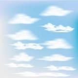 Cielos realistas fijados para el diseño Stock de ilustración