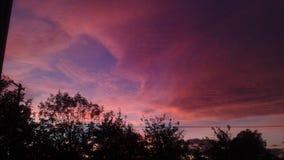 Cielos rosados del tehama Fotografía de archivo libre de regalías