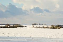 Cielos tempestuosos del invierno fotografía de archivo