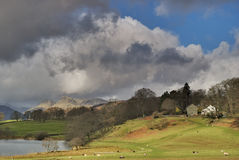 Cielos tempestuosos sobre Langdale Imagen de archivo libre de regalías