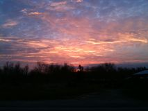Cielos a través de Kentucky Fotografía de archivo