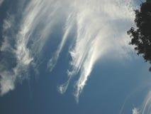 Cielos y nubes Foto de archivo