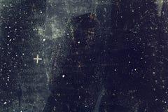 Ciemna betonowej ściany grunge tekstura fotografia stock