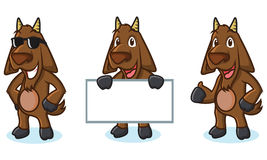 Ciemna Brown maskotki Koźlia poza Fotografia Stock