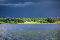 Ciemna burzy chmura Fotografia Royalty Free
