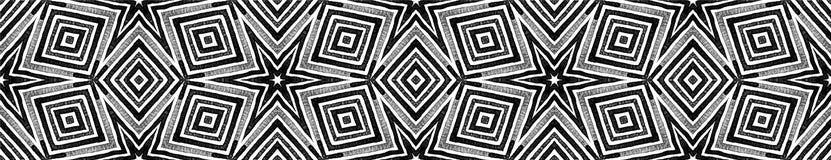 Ciemna czarny i biały Bezszwowa Rabatowa ślimacznica Geome royalty ilustracja