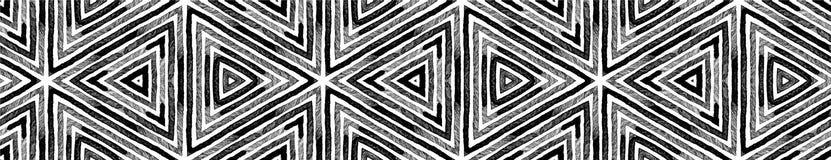 Ciemna czarny i biały Bezszwowa Rabatowa ślimacznica Geome ilustracja wektor