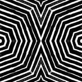 Ciemna czarny i biały Geometryczna akwarela Olśniewać Bezszwowego wzór Ręka rysujący lampasy Szczotkarski tekst Royalty Ilustracja