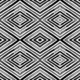 Ciemna czarny i biały Geometryczna akwarela Przyzwoicie Bezszwowy wzór Ręka rysujący lampasy Szczotkarski Textur Ilustracja Wektor