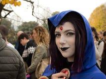 Ciemna czarownica przy Lucca komiczkami 2017 i grami zdjęcie royalty free