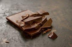 Ciemna czekolada Zdjęcia Stock