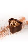 Ciemna czekolada z kakaowym proszkiem obraz stock