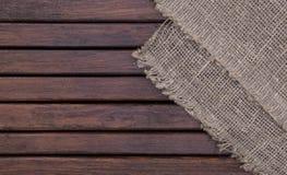 Ciemna drewniana tekstura i tkaniny tła tekstura Obraz Stock