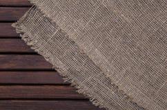 Ciemna drewniana tekstura i tkaniny tekstura Zdjęcia Royalty Free